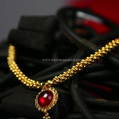 gold necklace designs below 10 grams with price south