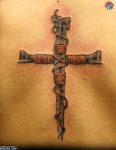 cross of nails tattoo best 25 unique cross tattoos ideas on