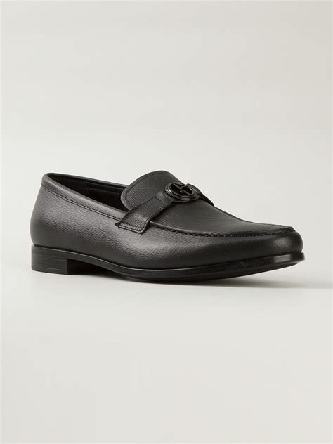 Shoe Loafer Fashion Armani B15 giorgio armani logo loafers in black for lyst