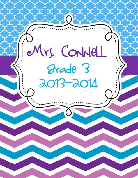 3 editable chevron binder covers for the classroom