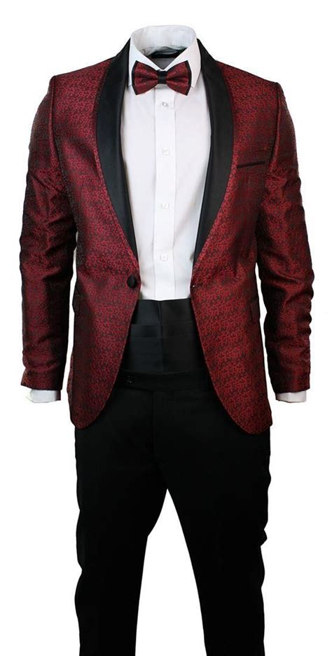 Maroon Black black and maroon suit go suits
