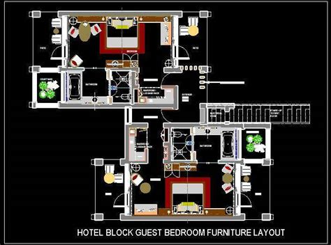 Home Design Resort House hotel guest room furniture layout plan n design