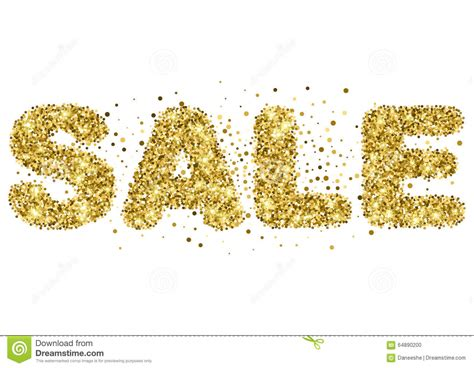 sale lettering from word sale in gold glitter vector