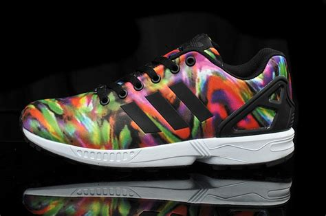 adidas colorful running shoes best of adidas zx flux wave pettern print multi color
