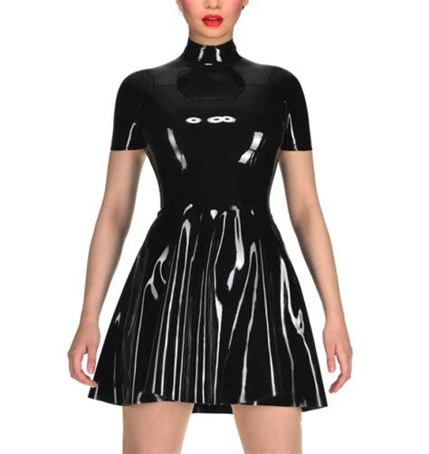 latex swing dress latex sexy bunny dress princess swing dress latex short