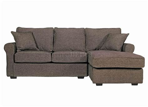 Mini Sectional Sofa Contemporary Small Sectional Sofa In Charcoal Fabric