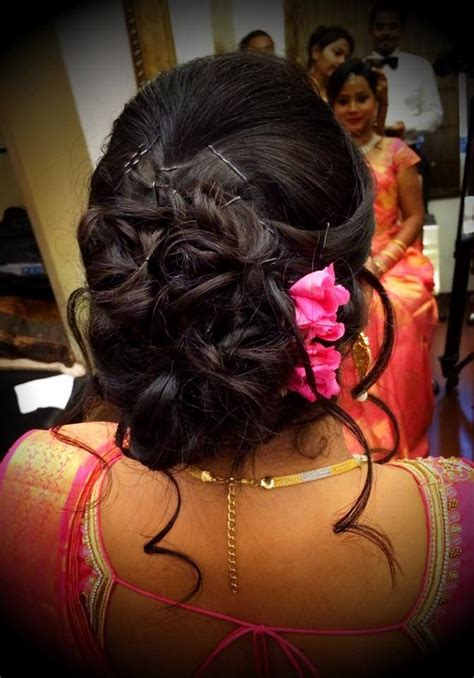 bridal hairstyles reception south indian bridal hairstyles wedding reception with photos