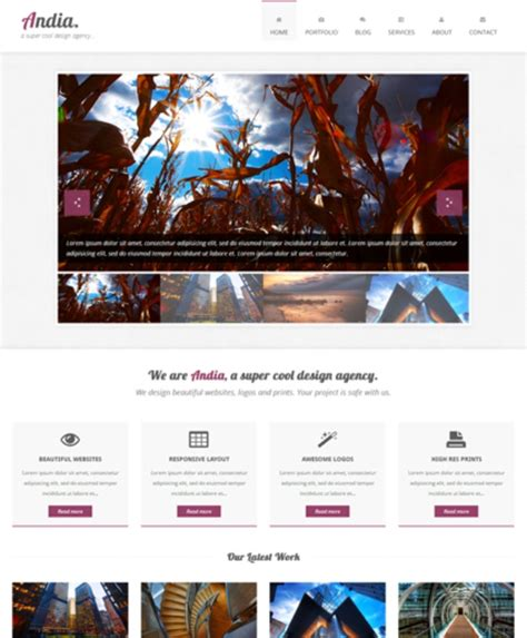 html themes with slider 155 free responsive html5 css3 website templates