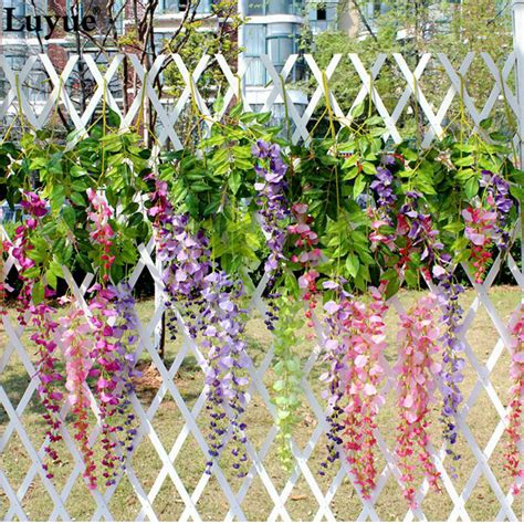 in home decorating wisteria flowers and gifts wedding decoration silk flower garland artificial flower