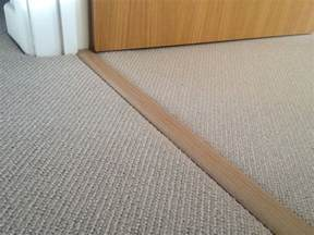 Tile To Carpet Threshold Strips How To Install A Metal Carpet Threshold Interior Home Design