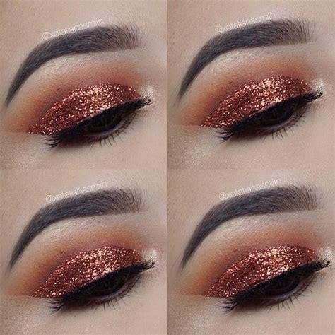Nyx Glitter Eyeliner copper smokey eye nyx glitter fall makeup makeup