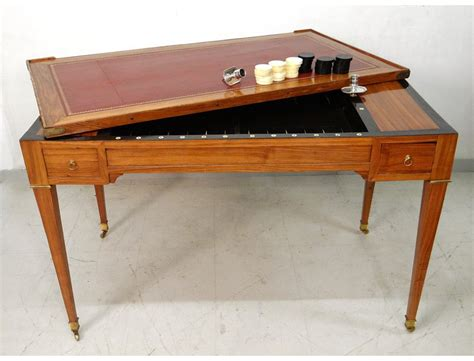 Lava L Table by Louis Xvi Table Backgammon Backgammon Chips Satin G
