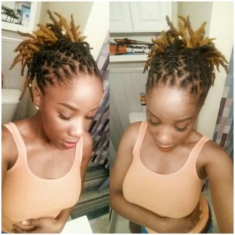 Loc Updo Hairstyles by Best 25 Loc Hairstyles Ideas On Locs Styles