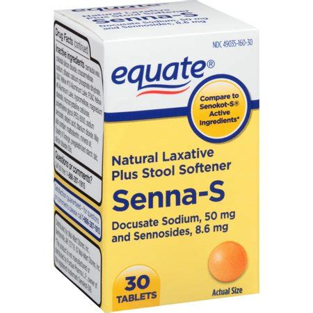 Walmart Stool Softener Laxative by Equate Senna S Laxative Plus Stool Softener