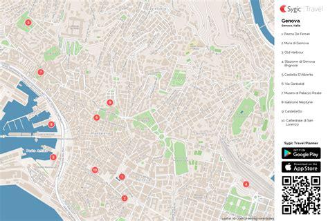 mappa porto di genova genova mappa turistica da stare sygic travel