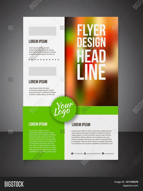 make flyer template business brochure offer flyer vector photo bigstock