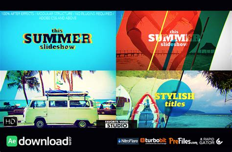 slideshow themes download favorite summer slideshow videohive free download