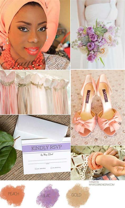 wedding colour schemes lilac peach and lilac wedding color palette event color