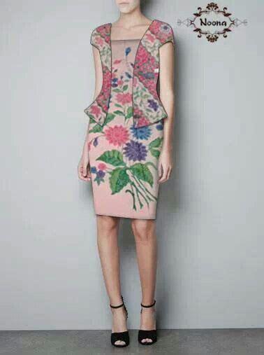 Dress Batik Peplum Parang best 25 model dress batik ideas on falda