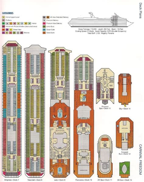 carnival cruise floor plan 17 best ideas about carnival freedom on pinterest