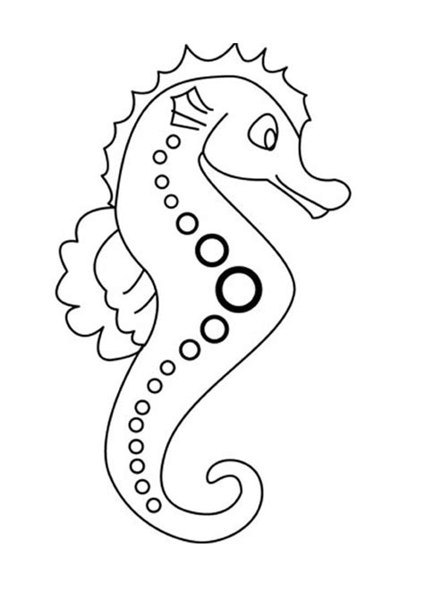 seahorse coloring pages hellokids com