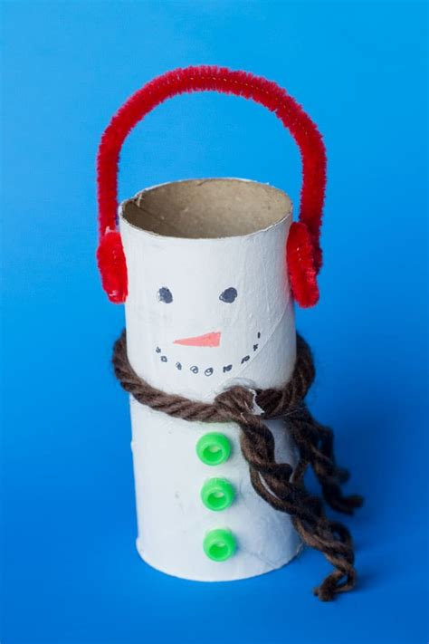 Toilet Paper Roll Snowman Craft - snowman toilet paper roll craft glue sticks and gumdrops