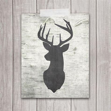 printable rustic art printable art deer head 8x10 from dreambigprintables