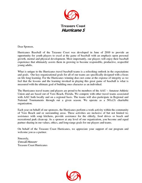 Sponsorship Query Letter how to draft a letter to sponsors image