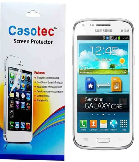 Tempered Glass Samsung I8262 casotec tempered glass screen protector for samsung galaxy i8262 buy casotec tempered