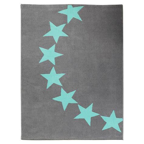 teppiche sterne design velours teppich sterne grau blau 140x200 cm