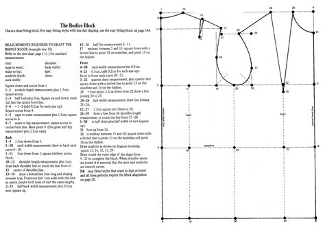 Pattern Drafting Instructions Bodice | week 1 drafting the basic blocks laura after midnight