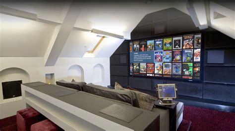 house attic bespoke attic home cinema in london installation