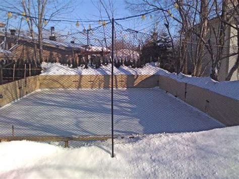 ice skating rink backyard refrigerated backyard ice rinks