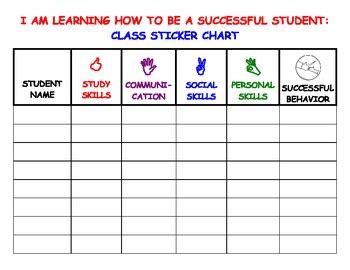 Behavior Chart Template For Teachers