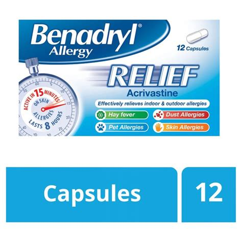 Shelf Of Benadryl by Morrisons Benadryl Allergy Relief 12 Per Pack Product