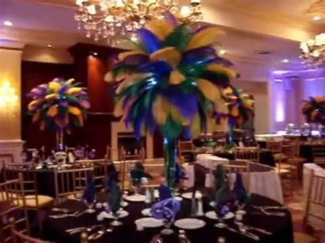 mardi gras themed centerpieces mardi gras themed ostrich feather centerpieces rentals at
