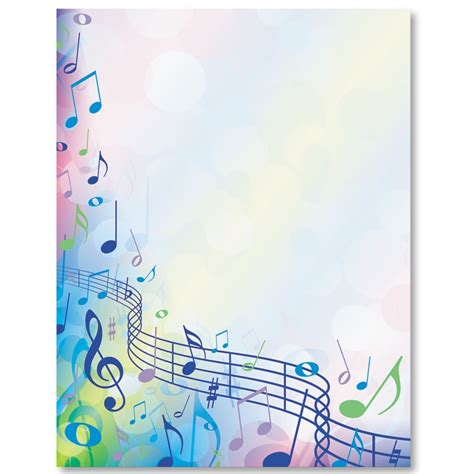 printable music stationery music festival border papers stationary note and music