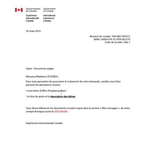 Modèle De Lettre De Demande D Emploi Dans La Fonction Publique Canada Une Lettre D Offre D Emploi Demander