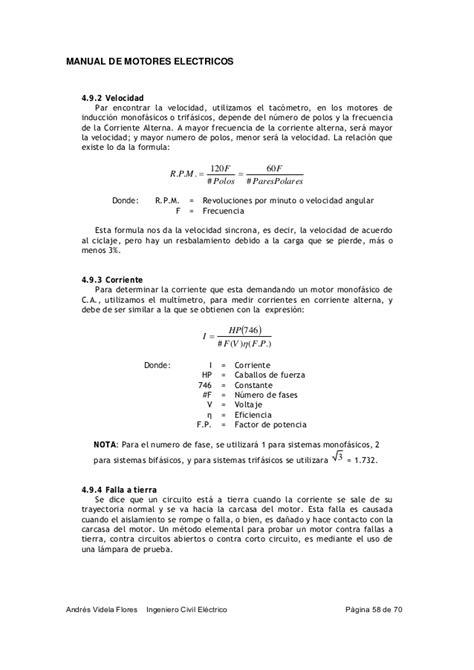 tabla de fallas sistemas electromecnicos manual de motores electricos
