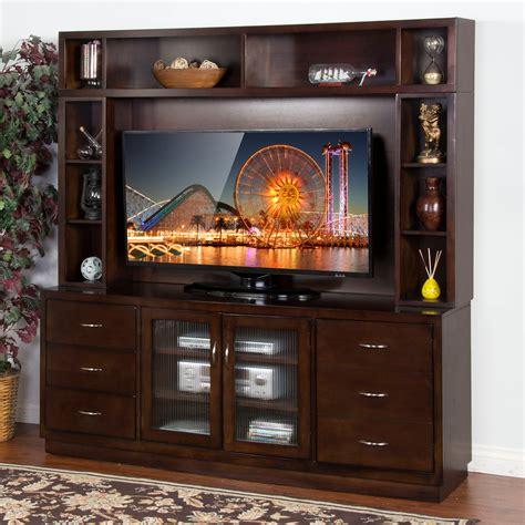 sunny designs espresso   tv console tv stands
