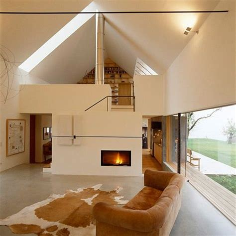 Gabled Ceiling Height Living Room Gabled Roof Farm House Design