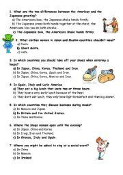 Printable Etiquette Quiz   english worksheets quiz good manners
