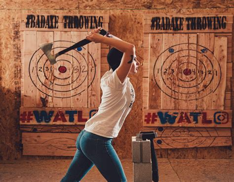 backyard axe throwing league the world ax throwing league comes to denver 5280