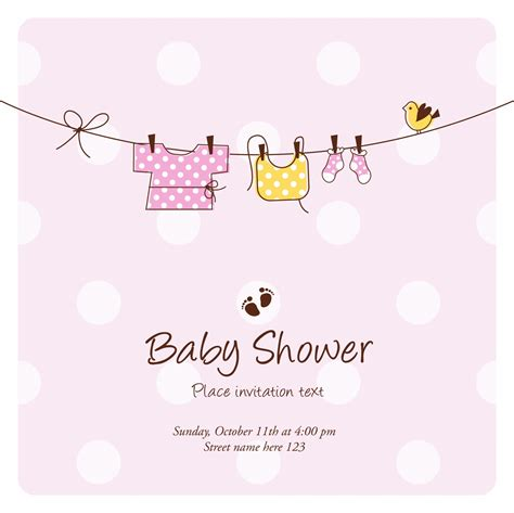 Free Baby Shower by Template Baby Shower Invitation Cards