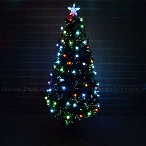 4ft 120cm fiber optic christmas tree pre lit led xmas