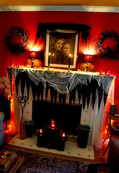 spooky home decor halloween mantle decorating ideas