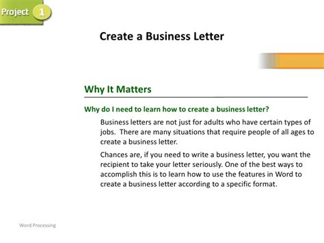 Business Letter Sle Ppt Business Letter Power Point