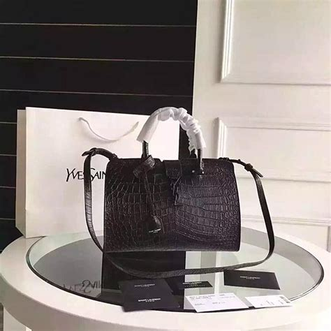 saint laurent monogram cabas bag  black crocodile
