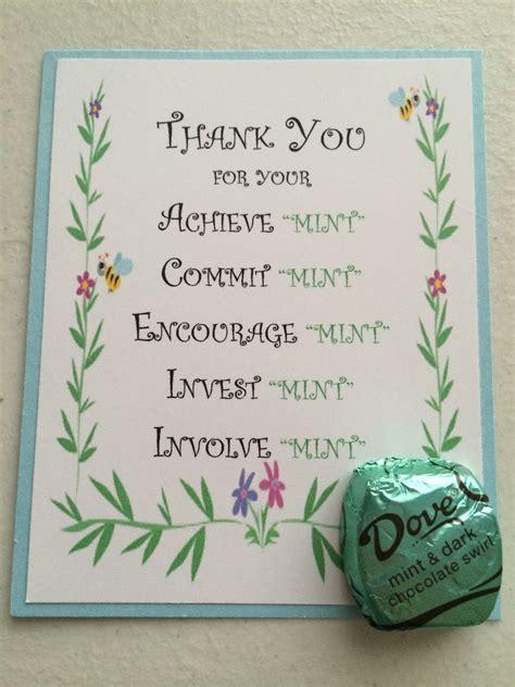 volunteer thank you card cards pinterest teacher