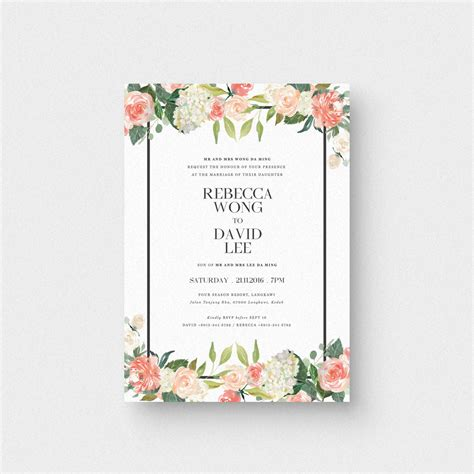 Wedding Card Letter by Floral Letter I Invitation Card The Paperpapers
